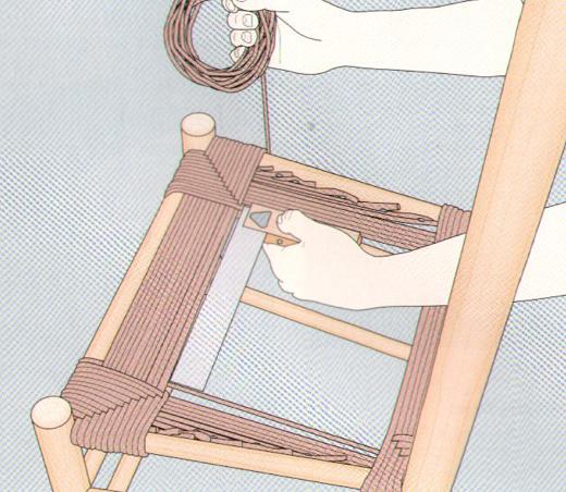Плетение из веревок сиденья для стула 2