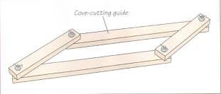 Самодельный шаблон-направляющая для молдинга вогнутой формы