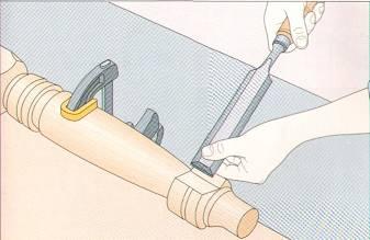Ремонт сколов точеных деталей мебели