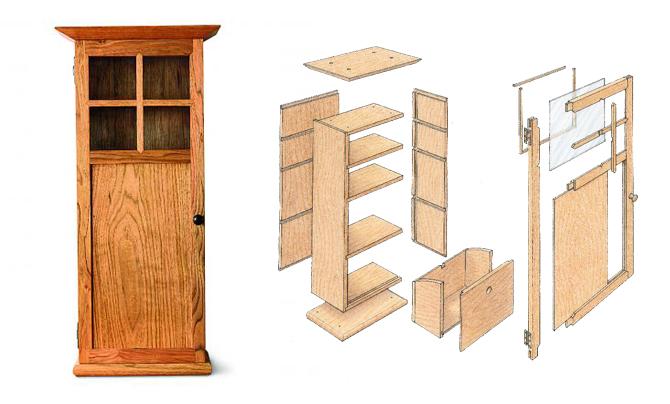 Пристенный шкаф из натурального дерева своими руками часть 1