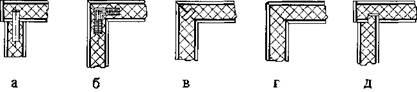 Угловые неразъемные соединения стенок