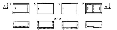 Преимущества и недостатки различных компоновок мебельных дверей