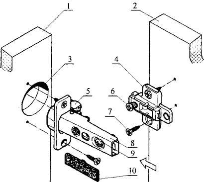 Установка и регулировка мебельных петель